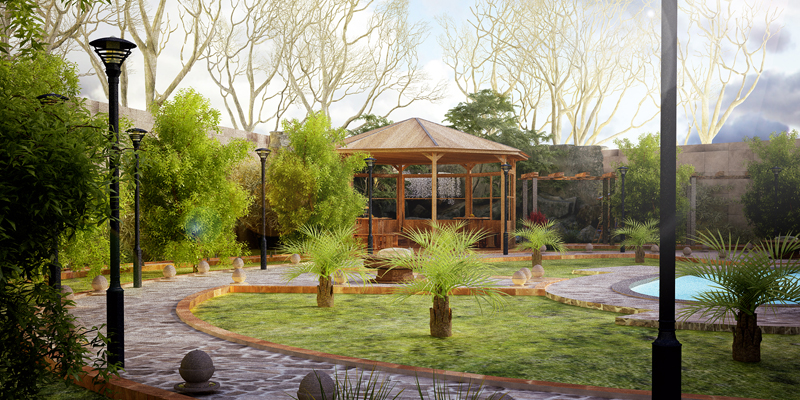 Render visualisation siamnd ossi for Landscape villa design