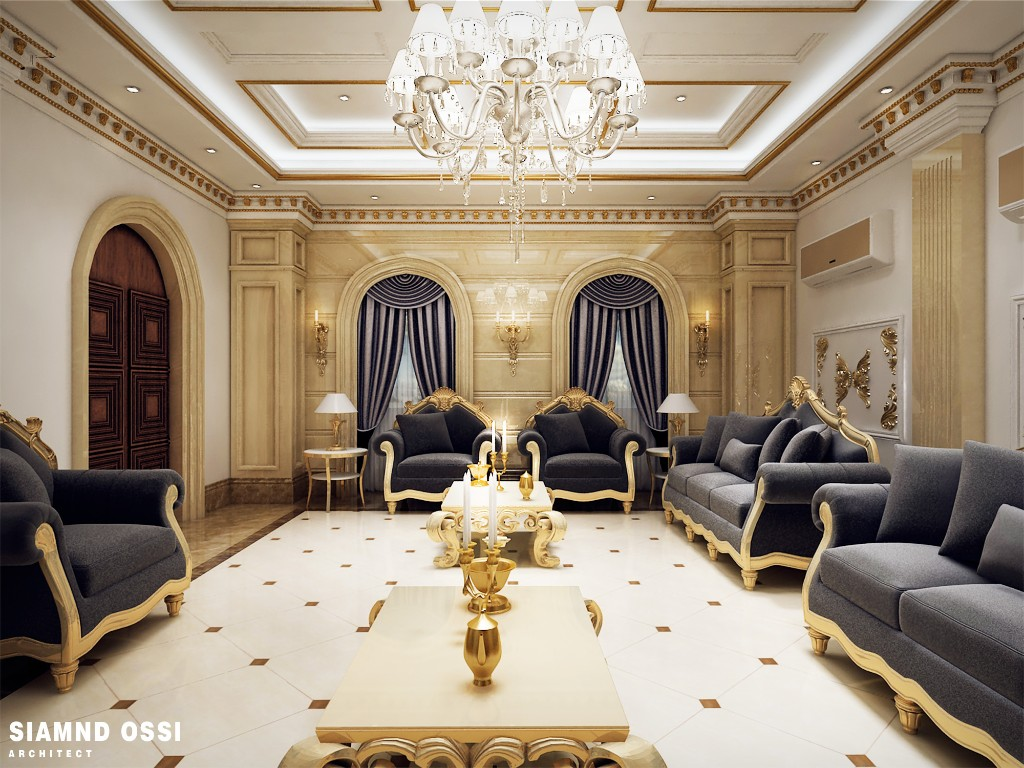 Luxurious design for qatari living room get the best for Interior design qatar